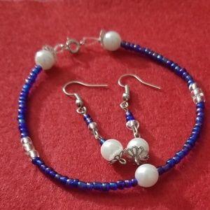Handmade by me bracelet and earring set